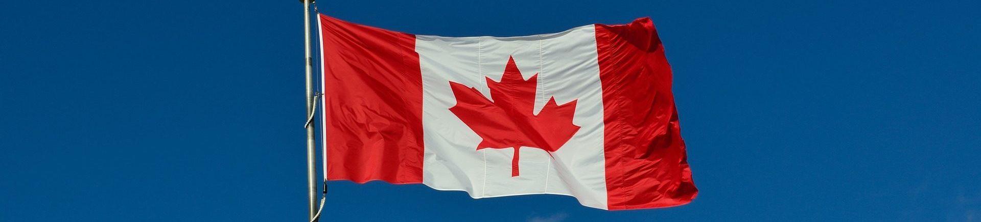 Canada Flag Waving on a pole
